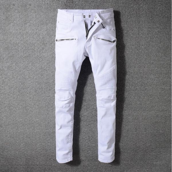2019 Мужские зимние теплые джинсы Джинсовые штаны Флис Разрушенные рваные джинсовые брюки Толстые термобелье Байкерские джинсы для мужчин