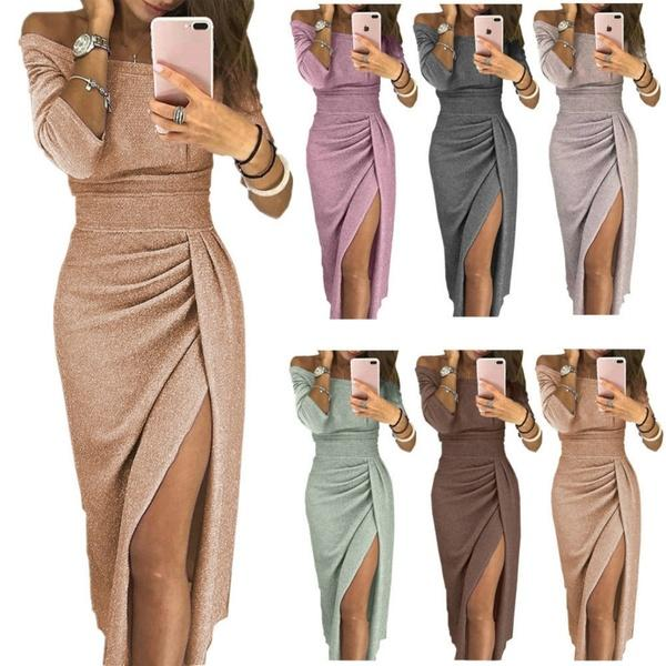 Maternity Pregnancy Clothes Designer Dress Women S Fashion Evening Dresses Off Shoulder Split Bodycon Strapless Long Party Dress White Buy At The Price Of 19 93 In Dhgate Com Imall Com