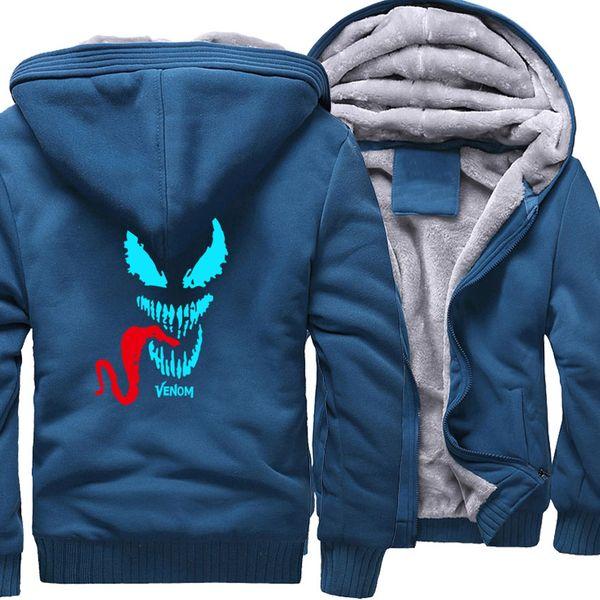 Aydınlık Yeni Tasarım Venom Serisi Kalın erkek Eşofman Sıcak Satış Erkek Kapşonlu Polar Sıcak Streetwear Tops Moda Marka Ceket
