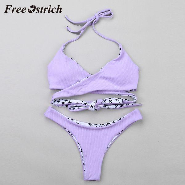 Free avestruz vendas quentes mulheres sexy bandage tankini swimwear banho maiô beachwear piscina conjuntos diy breve mar
