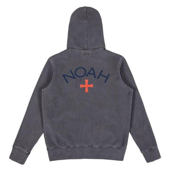 19SS NOAH Logo Printed Pure Color Zip Jacket Men Women Casual Street Hip Hop Simple Zipper Coat Fashion Outwear Green Black-grey HFHLJK014