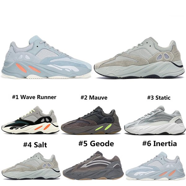 New Style Corredor de Onda Analógico 700 Tênis Para Homens Mulheres Geode Static Salt Inércia Cimento 700s Formadores Designer Sports Sneakers