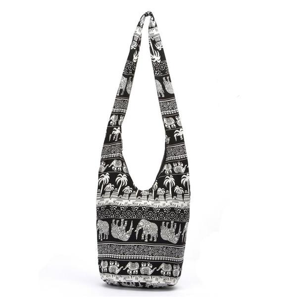 Fashion Bags Cross Body Elephant Sling Crossbody Shoulder Bag Purse Thai Top Zip Handmade New Color Black Lady Shopping Creative Bags