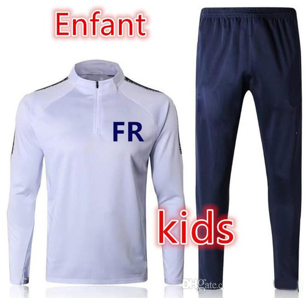 top popular Maillot de foot survetement kids soccer tracksuit 2018-2019 Survêtement de football mbappe POGBA GRIEZMANN child football training suit 2020
