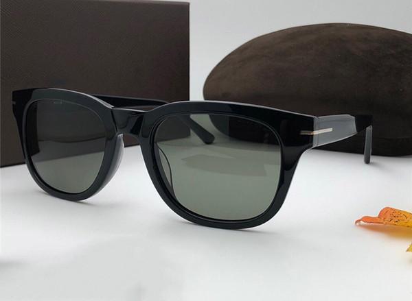 Nuovi occhiali da sole di marca di marca popolare di lusso Montatura quadrata Occhiali di produzione della plancetta avanzata Occhiali da sole Business occhiali Protezione VU400