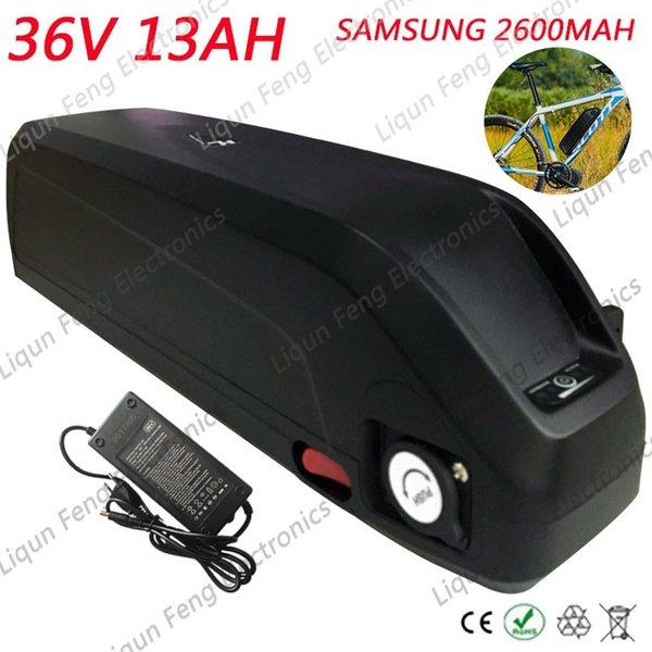 Livre Alfândega Nenhum Imposto 36 V 13AH Bicicleta Elétrica Da Bateria 36 V 13AH uso Samsung 2600 MAH células De Lítio Hailong NO. 2 Garrafa de Bateria