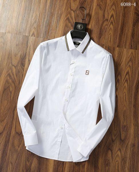 #9541 Classic Men Shirts Slim Business Shirt Fashion Male Shirts Long Sleeve Medusa Casual Dress Shirt Solid Color French Cufflinks Shirt