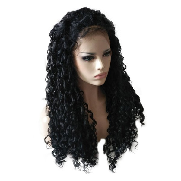 Hair Care Wig Stands Women's Fashion Wig Black Ladies Long Curly Lace Front Net 22 Inch High Temperature Silk Feb13