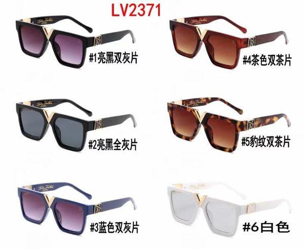 2019 La más nueva moda V2371 Ejercicio de lujo Gafas de sol de alta calidad Diseñador popular Gafas de sol hombre gafas de sol gafas de sol Gafas de sol