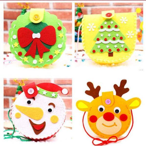 100pcs al por mayor de la decoración de Navidad creativo bolsa de regalo de caramelo Niños DIY mano de Mochila de dibujos animados clase de kindergarten Craft Presentado