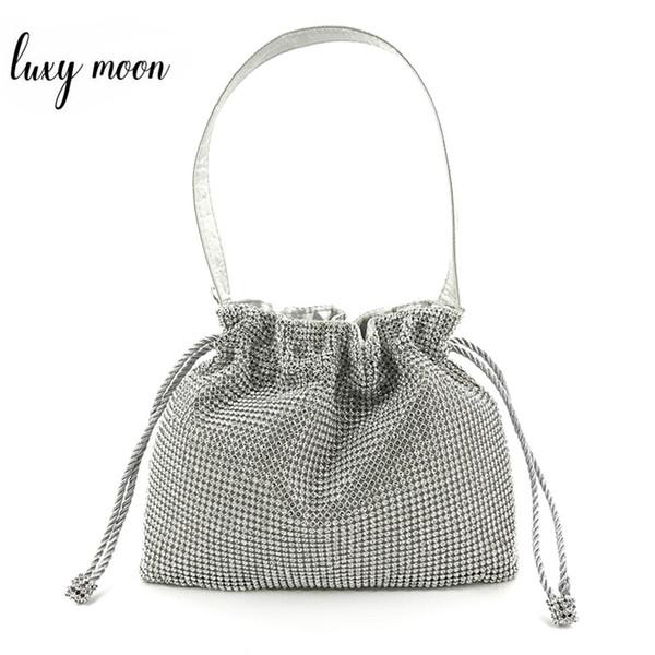 신부 실버 골드 블랙 졸라 매는 끈 버킷 ZD1486에 대한 Luxy 달 다이아몬드 클러치 저녁 가방 숙녀의 손 가방 웨딩 지갑