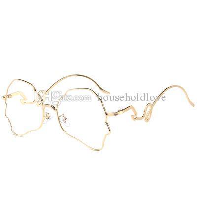 Gold frame transparent lens