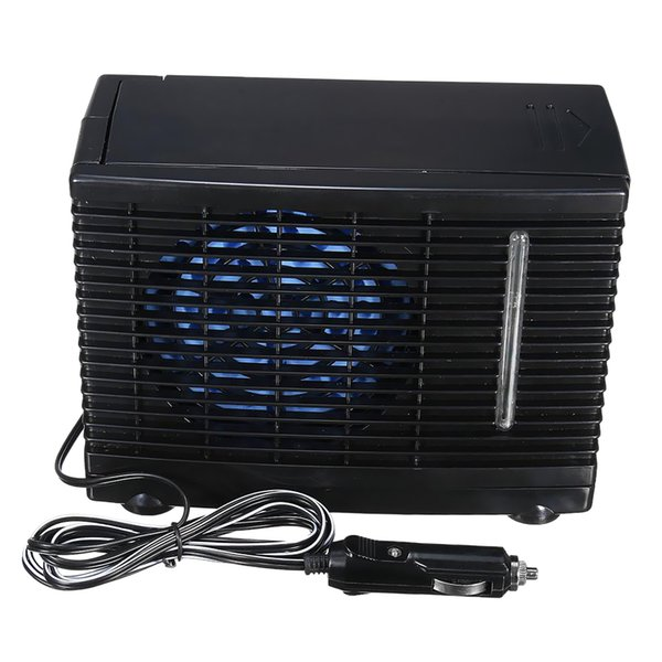 best selling 12V Portable Car Truck Home Office Mini Black Air Conditioner Evaporative Water Cooling Fan Low Noise Operation