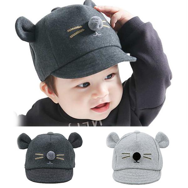 0d4826c5d 2019 Cartoon Cat Design Baby Hat Baseball Cap Cute Cotton Baby Boys Girls  Summer Sun Hat Spring Peaked Cap Kids Snapback Bonnet From Jamani3, $34.05    ...