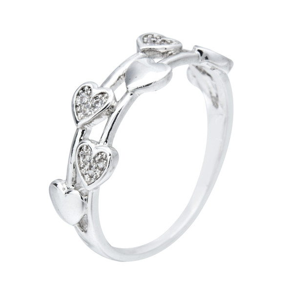 High-quality fashion classic heart-shaped zircon rings in 2019, beautiful jewelry gifts for wedding parties JZ-023