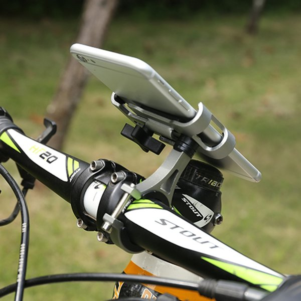 Dropship 1pc Bicycle Handlebar Aluminum Alloy Bracket Outdoor Riding Mountain Bike Mobile Navigation Fixed Bracket Cannot Rotate #25339
