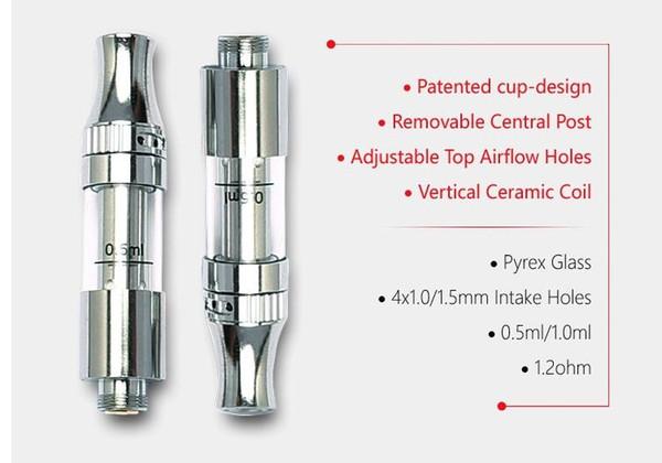 710 kingpen cartucho de cerâmica bobina tanque vaporizador de topo de fluxo de ar ajustável V9 cerâmica cartuchos vape dispositivo para fumar de óleo mel broto caneta ecig