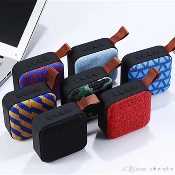 T5 sans fil Bluetooth mini haut-parleur haut-parleurs portables Bluetooth 4.2 avec caisson de basses SD FM extérieure Colonne Haut-parleur 7 Livraison gratuite couleur