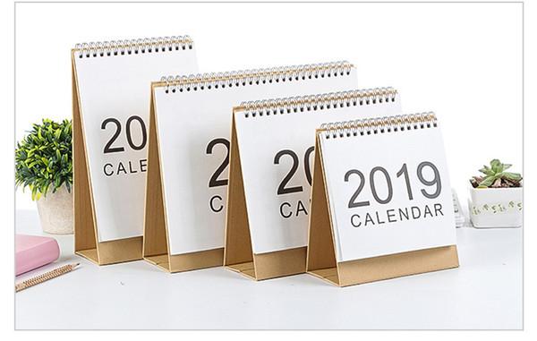top popular 2019 Writable Weekly Planner Monthly List Plan Daily Calendar Desktop Creative Office White Stand Simple 18.5*21cm Calendar 2020