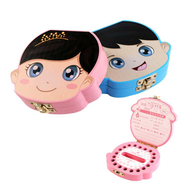 New Baby Tooth Box Wooden Milk Teeth Organizer Storage Boys Girls Save Souvenir Case Creative Baby Tooth Organizer for