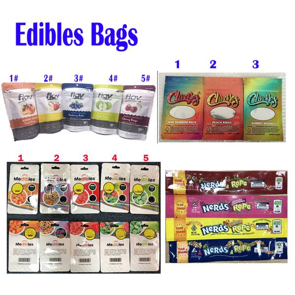 Edibles Packaging Mylar Çanta Şeker for Food Kanıtı Paketi kokla 420 Chuckles Medibles Meraklısı İPİ Infused Şeker gummies Bag 710 Packaging Flav