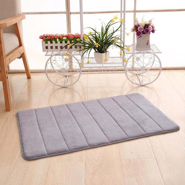 Coral Foam Non-Slip Bath Mat Bathroom Carpet Warm winter Memory Foam Bathroom Mat Set kitchen Floor Rug
