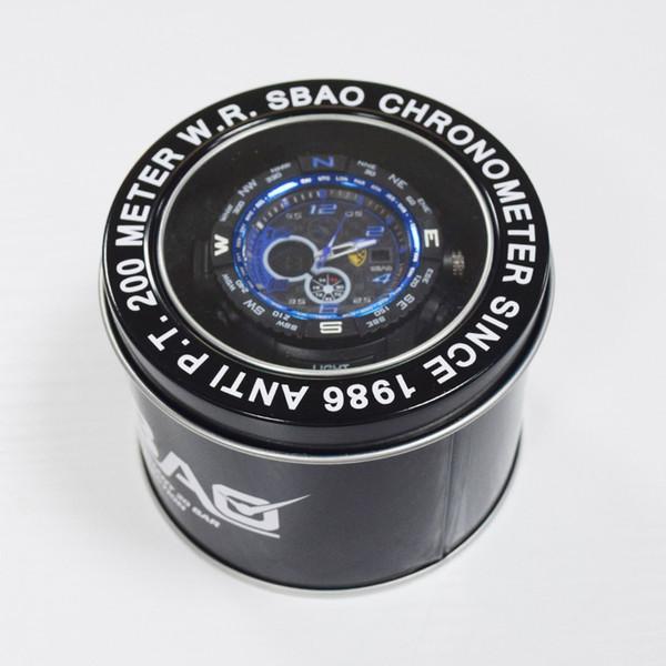 APEO dédié cylindrique porte-montre boîte en fer montre électronique présente organisateur boîte vitrine cadeau d'horloge