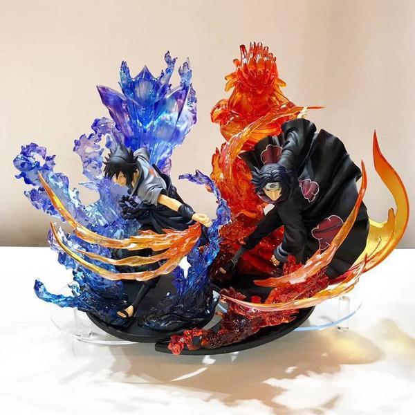 23 cm Anime Naruto Pvc Action Figure Sıfır Uchiha Itachi Yangın Sasuke Susanoo İlişkisi Koleksiyon Model Oyuncak Y19062901