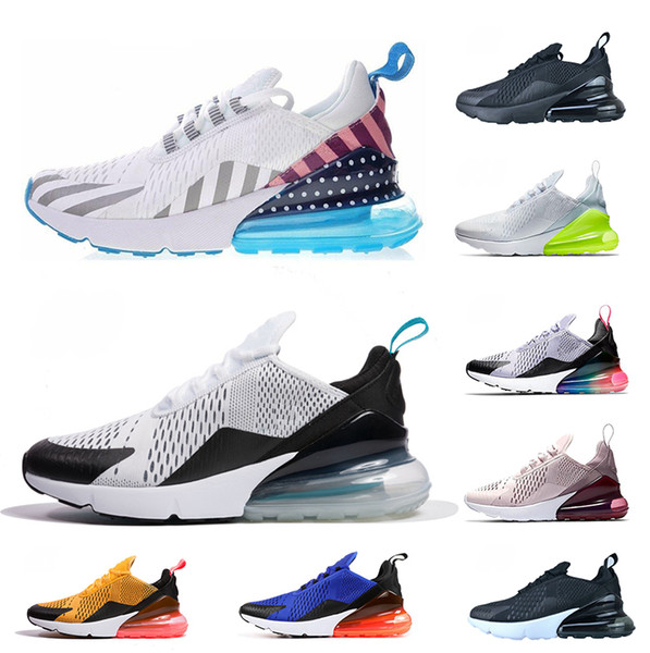 2019 New Designer 270 Mens Women Running Shoes Fashion OREO Tiger Hot Punch Triple White Black BE TRUE Teal Sports Sneaker Outdoor Shoe