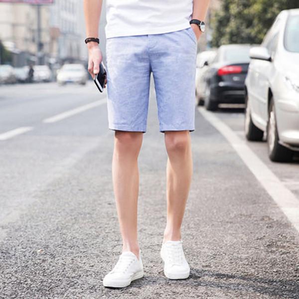 Running Linen Korean Summer Shorts Men Casual Army Steampunk Tech Wear Tracksuit Cotton Compression Modis Mens Clothing 70DK014