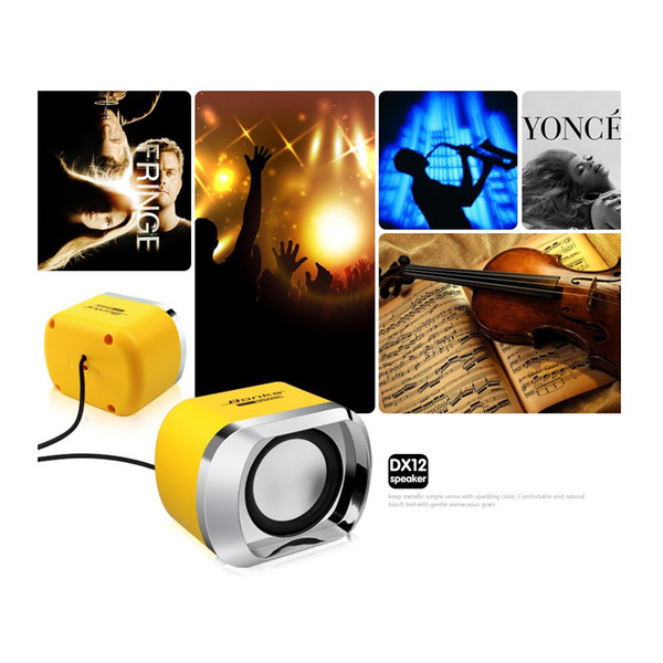 Wired Subwoofer Stereo Bass USB 2.1 3D Atmosphere PC Portable Speakers