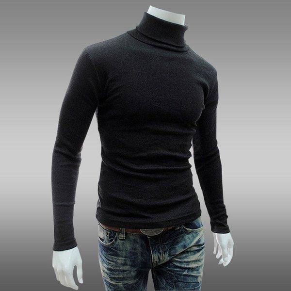 Moda Erkek Gömlek Erkek Giyim Sonbahar Uzun Kollu Slim Fit T Gömlek Yeni Erkek Pamuklu Tişört Rahat Düz Renk T Shirt