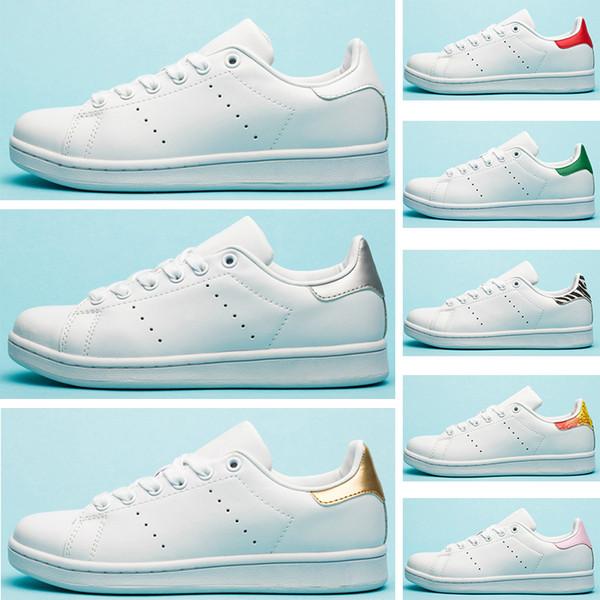 Großhandel Adidas Stan Smith Frauen Männer Neue Stan Schuhe Mode Smith Turnschuhe Freizeitschuhe Leder Sport Klassische Wohnungen Größe 36 45 Von