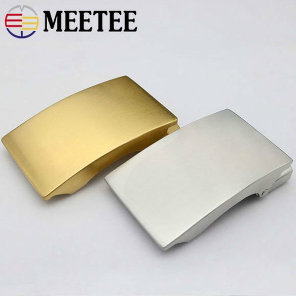 Meetee 36mm Stainless Steel Men's Belt Buckle Without Teeth Automatic Buckles Head DIY Business Casual Leather Craft Accessories YK001