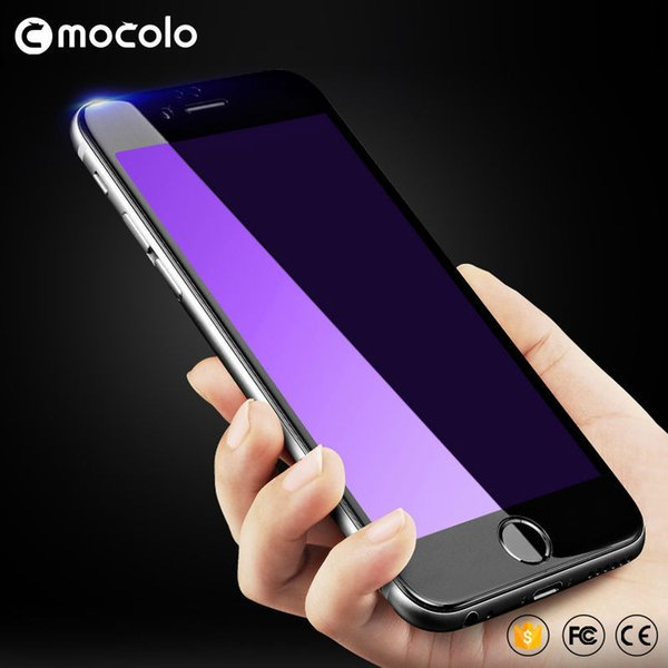 Original Mocolo For Iphone 6 Tempered Glass 3d Edge Screen Protector Film Full Cover Anti Blue Light For Iphone 6 S Plus J190505