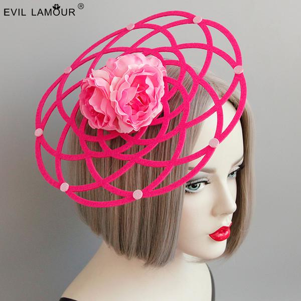 Новая удивительная девушка большой круглый полый Fansinator шляпа мода Леди цветок свадьба шляпа заколки женщины аксессуары для вечеринок FJ-192