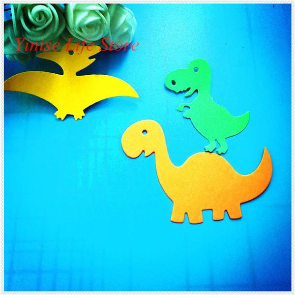 YLCD515 Üç Dinozorlar Metal Kesme Scrapbooking Için Şablonlar Şablonlar DIY Albümü Kartları Dekorasyon Kabartma Klasör Die Kesici Kalıp