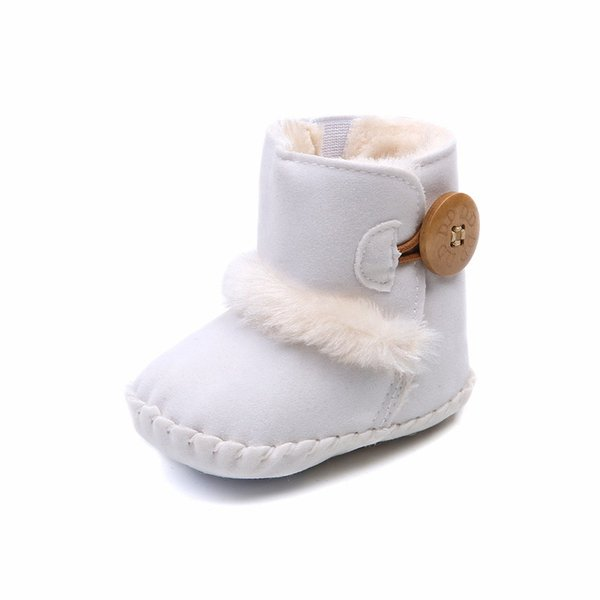 Free Shipping Baby Girls Shoes Boys Toddler Snow Boots Winter Warm Soft Soles Infant First Walker Skidproof Newborn Plush Boots Shoes 0-18M