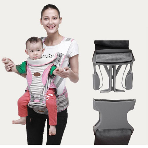 Breathable Baby Carrier Infant Baby Hipseat Carrier Front Facing Ergonomic Kangaroo Wrap Sling For Travel 0-36M