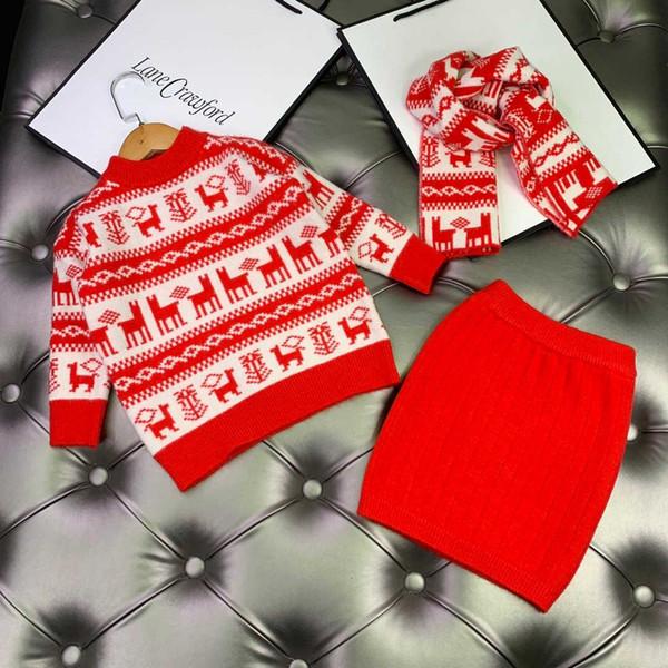 2020 kids tracksuit set girlss fashion girls sets 2pcs Children clothes top and dress @941205
