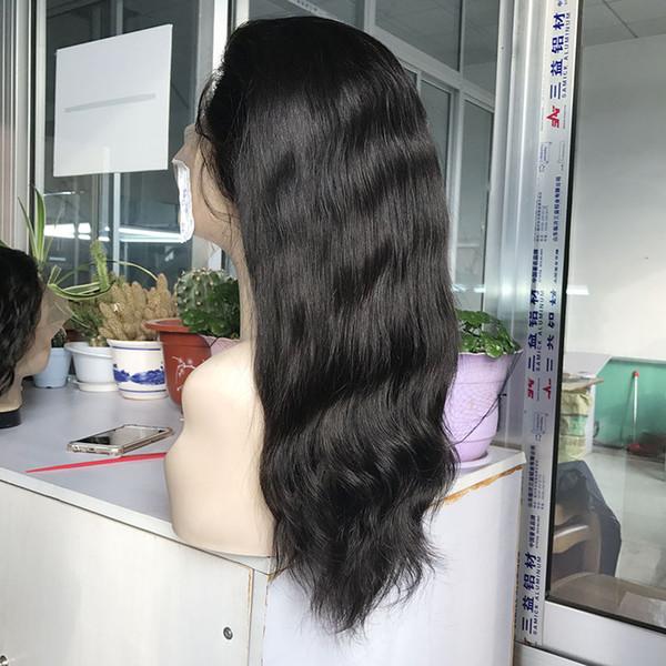 Stokta Doğal Düz İnsan Virgin Saç Dantel Ön Peruk 14 Inç Satılık Brezilyalı İnsan Virgin Remy Saç Tam Dantel Peruk
