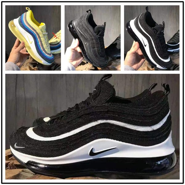 Compre 2020 NIKE Air Max 97 720 72C Newest Sean Wotherspoon X 197 VF SW Hybrid Running Shoes For Men Women Corduroy Rainbow Authentic Designer