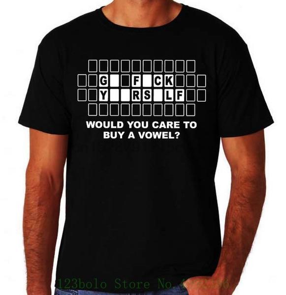 Drôle Acheter un Voyelle grossier offensive F K Yourself New Black Mens Nouveauté T-shirt Photos Intéressant