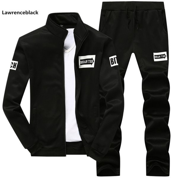 New 2019 Brand Tracksuit men Sportswear Sets Jogger Mens Fleece hoodie+Pants Sporting Suit Male Track Suits Gyms Sweatsuits 1900
