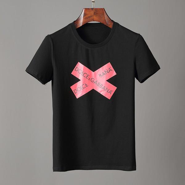 liangjia168liang / 2019 neue Marken-Herren-T-Shirts Sommer-Baumwolle Kurzarm T-Shirts lässige T-Shirts Männer-T-Shirt Homme Kleidung T15502