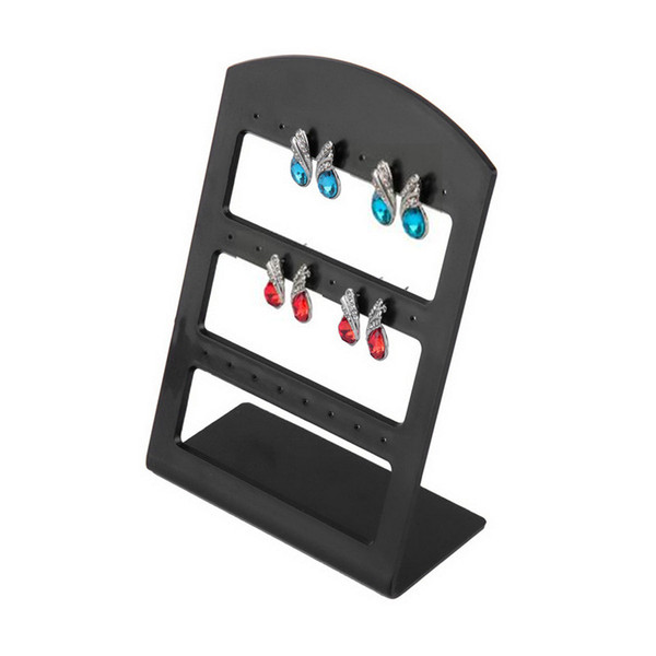 24 Holes Plastic Earring Show Countertop Display Rack Stand Organizer Holder Jewelry Packaging &