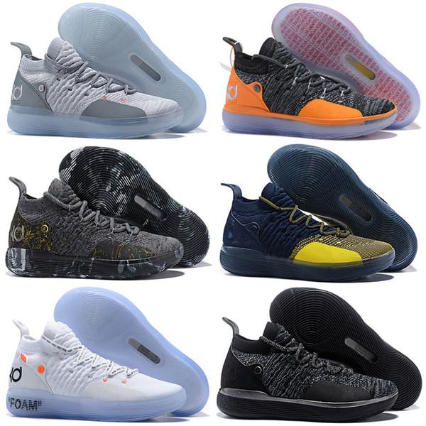 2019 YENİ KD 11 Alacakaranlık Darbe Serin Gri Paranoid EYBL Oreo Basketbol Ayakkabı KD 11'ler Erkekler Kevin Durant Sneakers Boyut Boyut 7-12