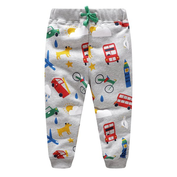 Jumping New Baby Boys Pants Kids Harem pants Autumn thick animal dinosaur Cotton car Pants Children Trousers for boys long