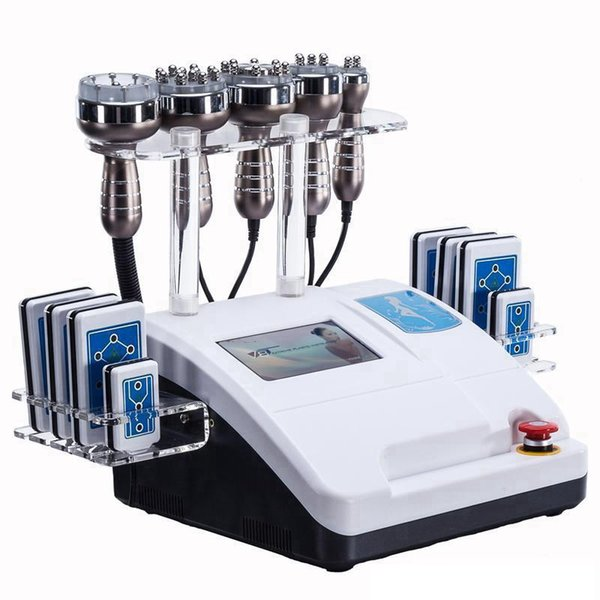 6in1 40K Ultrasonic Liposuction Cavitation RF Machine 8 Pads 650NM Lipo Laser Slimming Machine Vacuum RF Skin Rejuvenation
