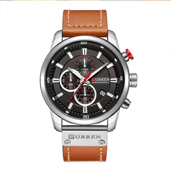 Curren Quarzuhr Männer Top-Marke Mann Uhren Mit Chronograph Datum Wasserdichte Sport Armbanduhr Uhr Relogio Masculino